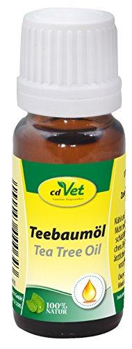 cdVet Naturprodukte Teebaumöl 10 ml - Tier - Spezialprodukt - vielseitig einsetzbar - hochwertig - schonend - natürlich + rein - Wohlbefinden - Wasserbaddestillationsverfahren - verträglich -