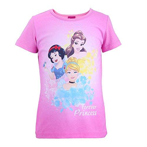 Disney-Prinzessinnen Mädchen T-Shirt 99237, Rosa (Pink 871), -
