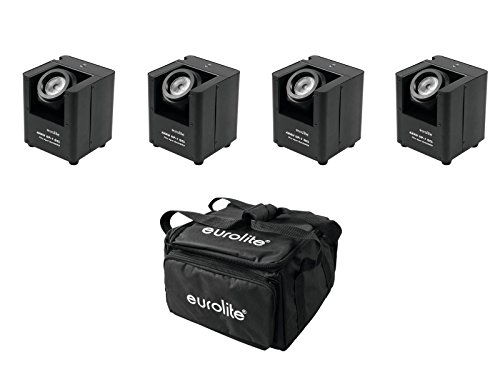 EUROLITE Set 4x AKKU UP-1 + SB-4 Soft-Bag Flex-transceiver