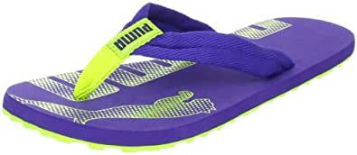 PUMA Unisex - Child Epic Flip Jr Flip-Flops Blue Blau (navy blue-lime punch 01) Size: 11