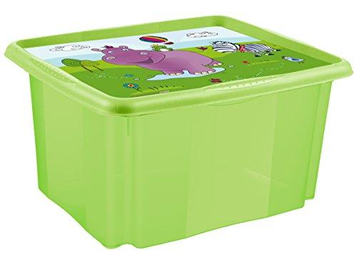 """keeeper 12215262012 anna """"hippo"""" dreh-/stapelbox mit deckel 24 l, lime"""