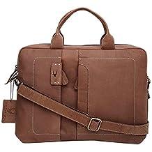 WildHorn Leather 10 Liters Brown Messenger Bag