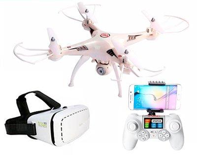 Mini Drone FPV Phantom Pro + Gafas VR | Cámara HD 720P | Control de Altura | Ideal Iniciación