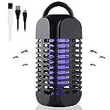 Maexus Elektrischer Insektenvernichter, Insektenfänger, Fliegenfalle, USB Elektrischer LED Elektrische Mückenfalle Moskito Killer Insektenfalle Mückenfalle für Kinderzimmer andere Innenumgebung, 2019