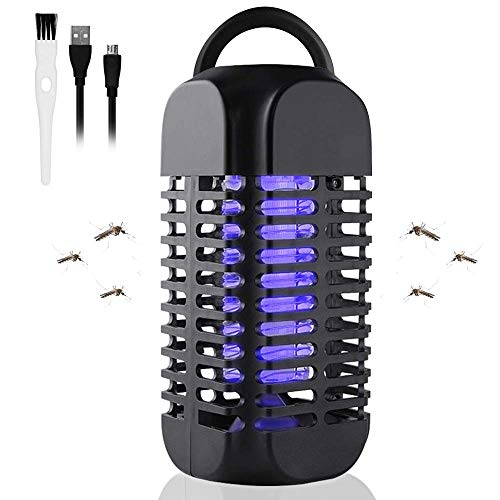Maexus Elektrischer Insektenvernichter, Insektenfänger, Fliegenfalle, USB Elektrischer LED Elektrische Mückenfalle Moskito Killer Insektenfalle Mückenfalle für Kinderzimmer andere Innenumgebung, 2019 900 Usb