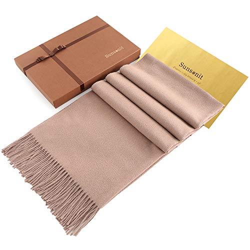 Zum Verkauf Kostüm Authentische - Sunsonit Schals für Damen, Pashmina-Schal, für den Winter, Herbst, Wolle, Schal, Übergröße - Beige - 198 cmx69 cm