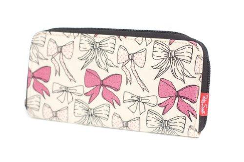 Ruby South by Seek Unique - Borsetta portafogli con zip, portamonete, porta carte di credito, motivo: fiocchi
