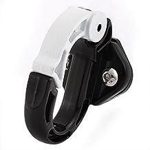 sourcingmap® Gancho para casco Motocicleta Tornillo universal fijada Motocicleta lleve casco bolsa Negro Blanco