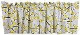 Crabtree Collection - Tenda mantovana per Finestra da Cucina, Sala da Pranzo, Camera da Letto, 40 x 152 cm, Blossom Yellow/Gray, 16' x 60' (40cm x 152cm)
