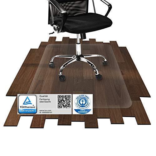 etm® Bodenschutzmatte - 120x90cm | TÜV und Blauer Engel | transparent, für Laminat, Parkett, Fliesen und Hartböden