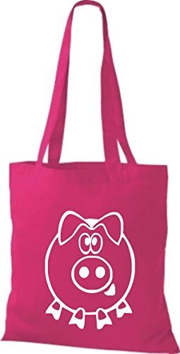 Shirtstown, Borsa tote donna pink