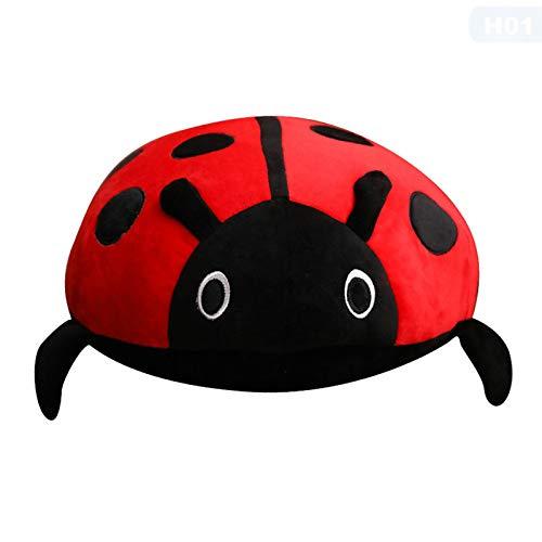 kopfkissen 40cm süße Plüsch Spielzeug weiche kreative Marienkäfer geformt Insekten Puppen gefüllt Kissen Kissen Kinder Kinder Geschenk