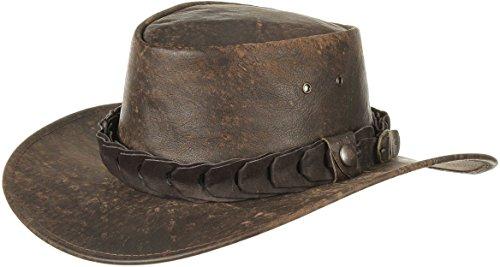 47c4bf961bc2e Wild Roo Cappello in Pelle Jacaru cappello da uomo cappello rodeo L 57-58