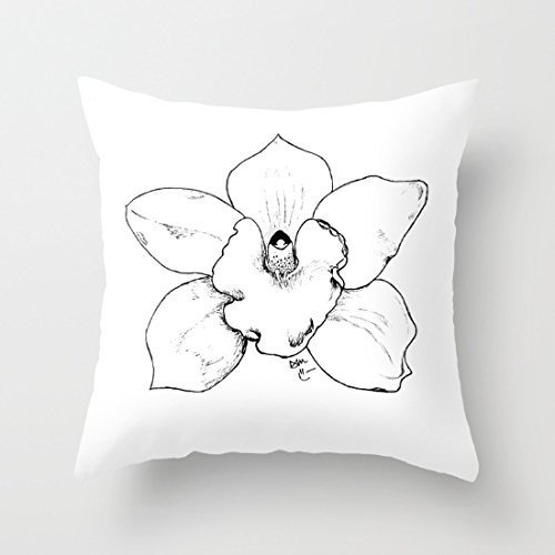 ersonalized-pillow-top-mattress-cover-the-gray-pattern-of-orchids-18x18inches-upartstore
