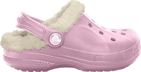 CROCS - Feat Lined Kids -Mixte Enfant - couleur : Marron Rose