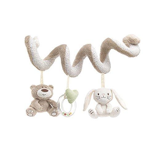 JYSPORT Jouet de lit bébé spirale d\'activités - Pour poussette, siège auto–Jouet en peluche pour bébé de 0 à 36mois Taille unique ours