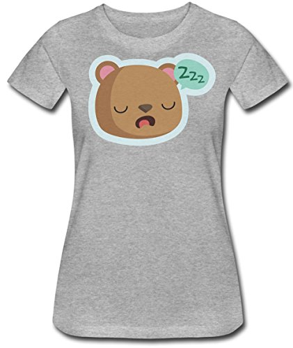 Cute Sleepy Bear Zzzz. I'm Falling Asleep So Tired Damen T-Shirt Small (Sleepy Bear Tee)