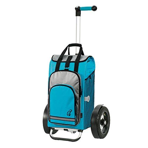 Andersen Shopper Tura mit kugelgelagertem Luftrad 29 cm und 60 Liter Tasche Hydro türkis mit Kühlfach