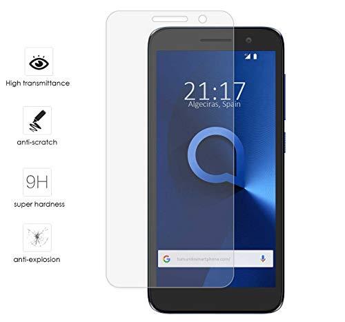 Tumundosmartphone Protector Cristal Templado para Alcatel 1 / Orange Rise  54 / Vodafone Smart E9 Vidrio