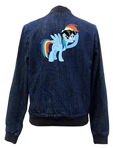 Rainbow Pony Jeans Bomberjacke Girls Certified Freak-L
