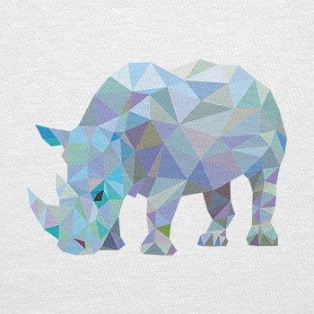 TEXLAB - Poly Rhino - Herren T-Shirt Weiß