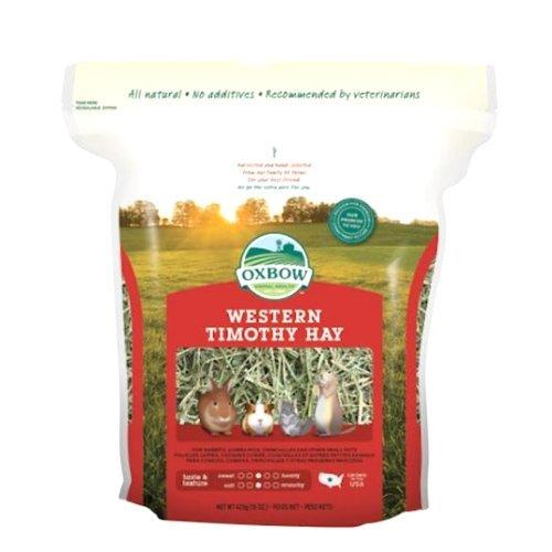 Oxbow Western Timothy Hay 425 gr - Il fieno più consigliato dai veterinari per piccoli animali erbivori (1 sacchetto)
