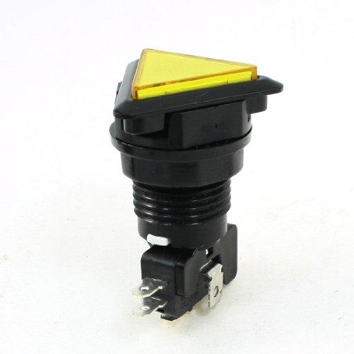 sourcingmap-5p-spdt-juego-de-arcade-momentanea-triangulo-iluminado-boten-amarillo-empuje