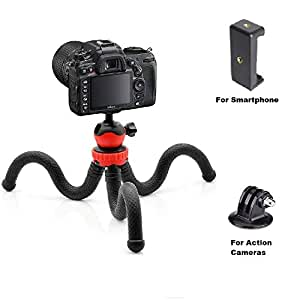 Yantralay YT-T9 360 ° Rotatable Ball Head Flexible Gorilla Pod Tripod with Free Tripod Mount and Mobile Attachment for DSLR, Action Cameras and Smartphone (Black)