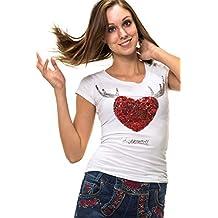 trachten t-shirt weiß langarm damen
