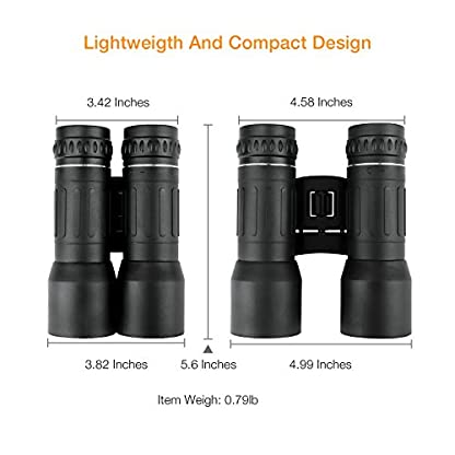 APEMAN 10 x 42 Binoculars for Adults Bird Watching Football Safari Sightseeing Climbing Hiking Traveling Sport Portable Compact Folding Binoculars with Coated Lens Carrying Case Strap and Clean Cloth