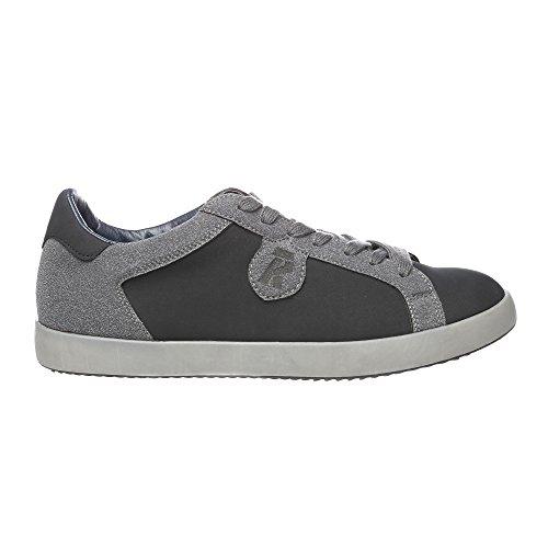 RIFLE Sneakers da uomo, scarpa bassa stringata - Mod. 162-M-363-456 Nero - Grigio Scuro