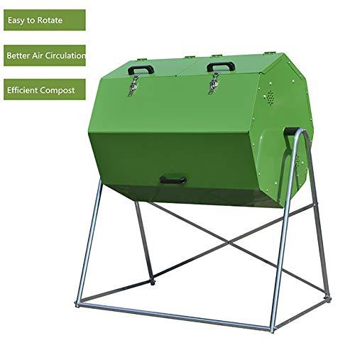 ZDYLM-Y Trommelkomposter, zweifach drehbarer Gartenkompostbehälter für den Außenbereich, große Kapazität, einfache Drehung