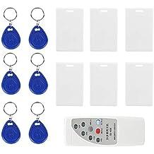 125 KHZ ID Card Reader/Writer Kit, RFID Copier ID IC Reader Writer Duplicatore Programmatore Smart ID Card Reader Sensore di controllo accessi porta con 6 tag scrivibili + Kit 6 carte