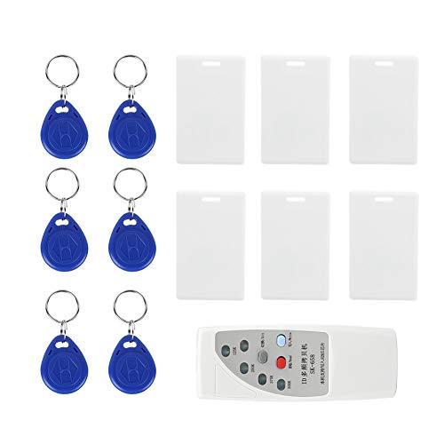 125 kHz ID Kartenleser/Schreiber Kit, Handheld ID IC Kopierer Schreiber Kopierer Programmierer Smart ID Kartenleser Türzugriffskontrollsensor mit 6 beschreibbaren Tags + 6 Karten Kit -