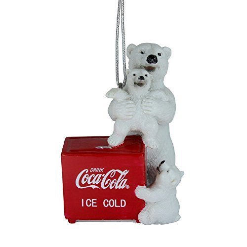 coca-cola-polar-bear-and-cubs-on-cooler-resin-ornament-by-coca-cola