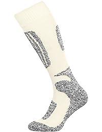 Tobeni 2 Pares de Esqui Funcional Snowboard Calcetines de Invierno para Mujer y Hombre
