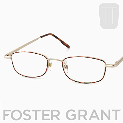 Pretty Smart Glasses Foster Grant rot, schwarz & gold mit Rand Lesebrille + 2.0