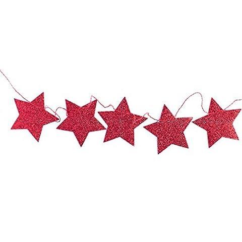 My Mind's Eye Stars & Stripes Red Mini Star Banner,