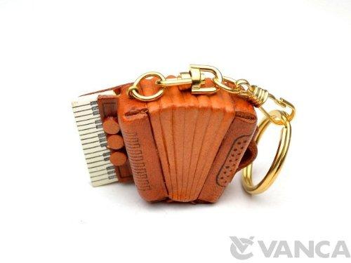 Akkordeon Leder Musik/Instrument KH Schlüsselanhänger Vanca Windhund Schlüsselanhänger Made in Japan