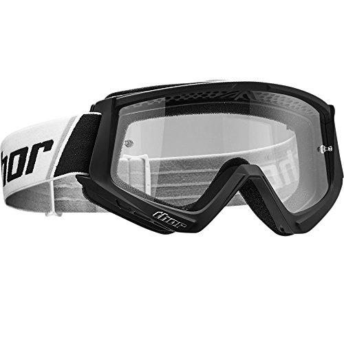 Thor Combat Goggle Crossbrille Schwarz Motocrossbrille Offroad Enduro Supermoto Quad FR SX MX ATV Yamaha Honda Suzuki kawasaki Motocross Downhill Cross Brille getöntes Glas