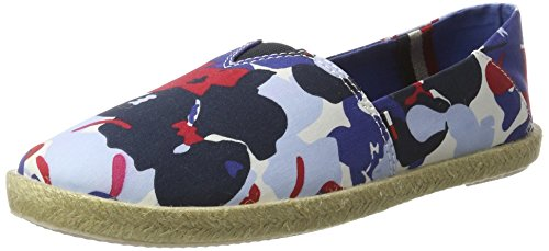 Tommy Hilfiger Damen S1385ARI 3D4 Espadrilles, Blau (Denim Floral 901), 38 EU