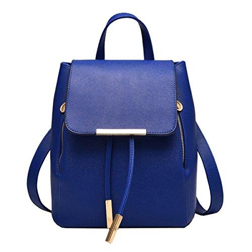 LAIDAYE PU-Schulterbeutel-Art Und Weisedamen Sacken Rucksackhandtaschen Ein 4