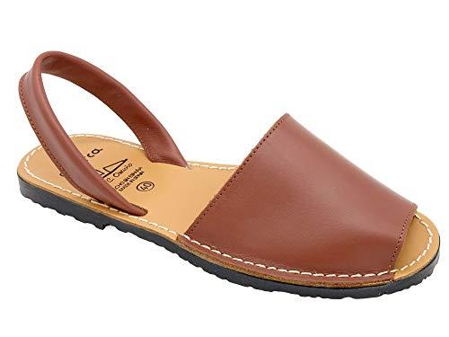 0cc3b752183 Avarca - Made In Spain - Damen Leder Sandalen - schöne Echtleder Mädchen Menorca  Avarcas Slipper