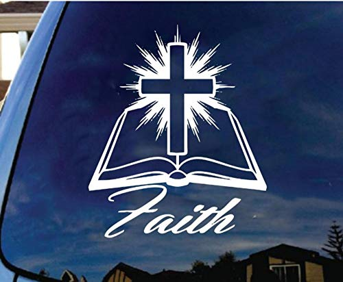 aube Bibel Kreuz Vinyl Aufkleber Sticker Christlich Religiös Jesus Christus Katholisch 25Cm ()