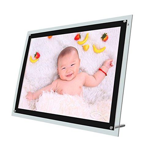 Tisch Ständer Ultra Thin LED-Edge beleuchtet Licht, Platte Box mit Bilderrahmen Werbung -
