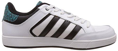 adidas Varial Low, Chaussures de Skateboard Homme Blanc / noir / vert (blanc Footwear / noir essentiel / vert impact)