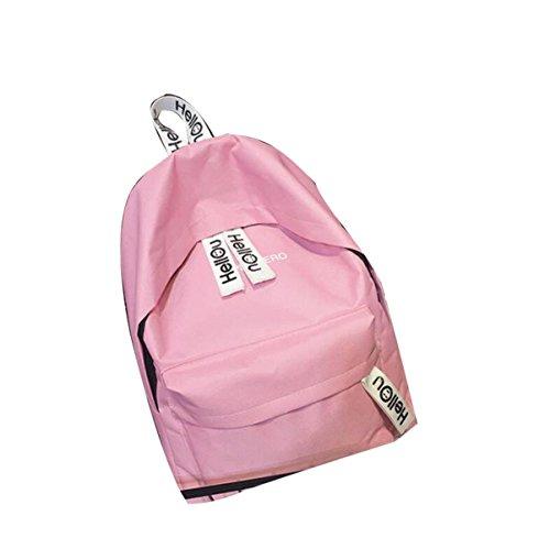 Teenager Rucksack Nylon Casual Rucksack,Pink Pink