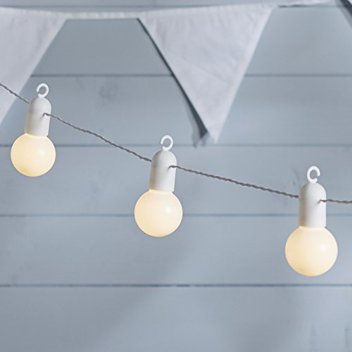 Lights4fun 20 Warm White LED Festoon Party Lights for Indoor Outdoor Use by Lights4fun