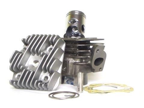 50ccm Zylinder Kit inkl. Zylinderkopf, Zündkerze und Dichtungen für Minarelli AC, Aprilia Rally Scarabeo SR, Beta Ark, Malaguti Ciak, Yamaha, MBK 50