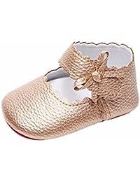 DAY8 Chaussure Bébé Fille Princesse Mariage Chaussure Bébé Fille Premier  Pas Bapteme Chic Bowknot Fashion Sneakers cb1a0724a582